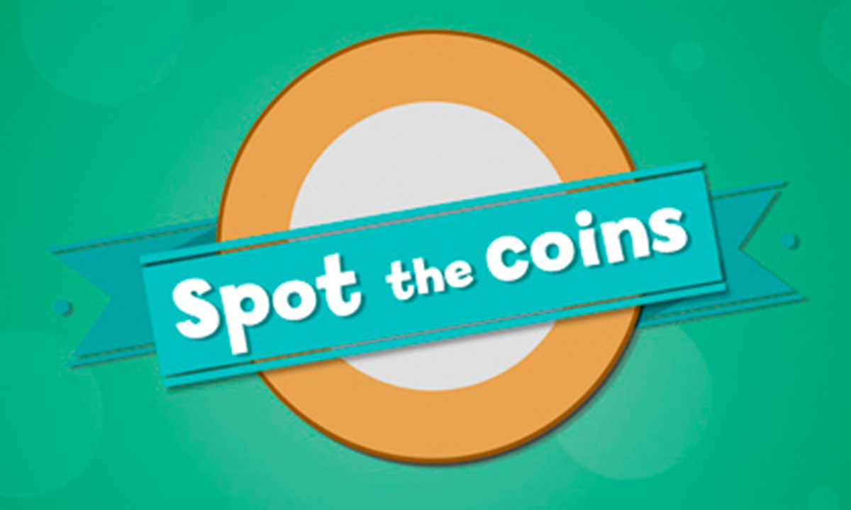 Spot the coins interactive activity